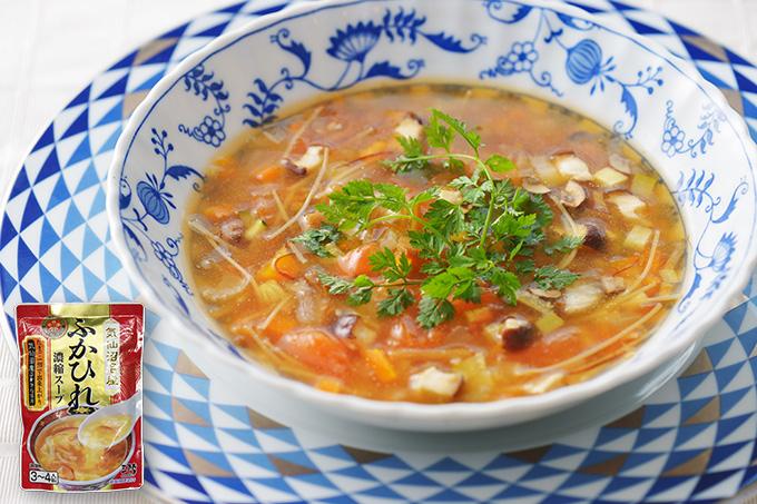 Zuppa di pinna di squalo con spagetti (ふかひれパスタ)いろはレシピ#45