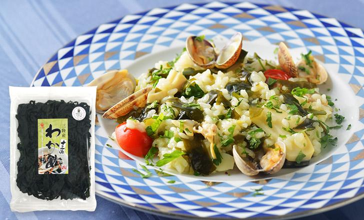 Risotto di alghe e vongole (わかめとあさりのリゾット)いろはレシピ#64