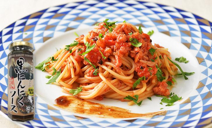 Spaghettone all'aglio nero (タコラグーと黒にんにくソースのパスタ)いろはレシピ#83