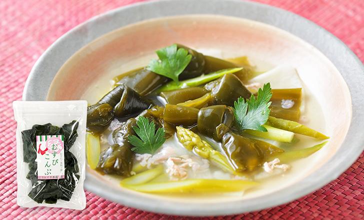 Zuppa di alga kombu (結び昆布と長芋のスープ)いろはレシピ#99